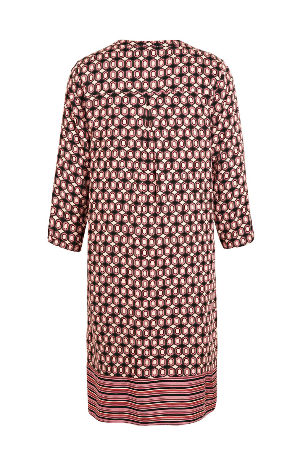 C&A jurk met all over print roze/beige/zwart, Roze/beige/zwart
