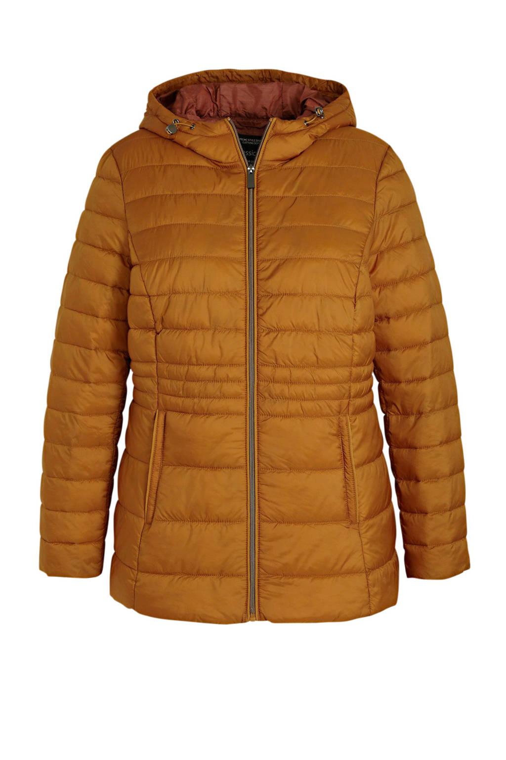 C&A XL Yessica gewatteerde jas camel, Camel