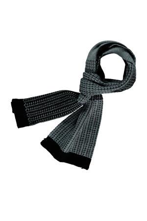 sjaal grijs/zwart