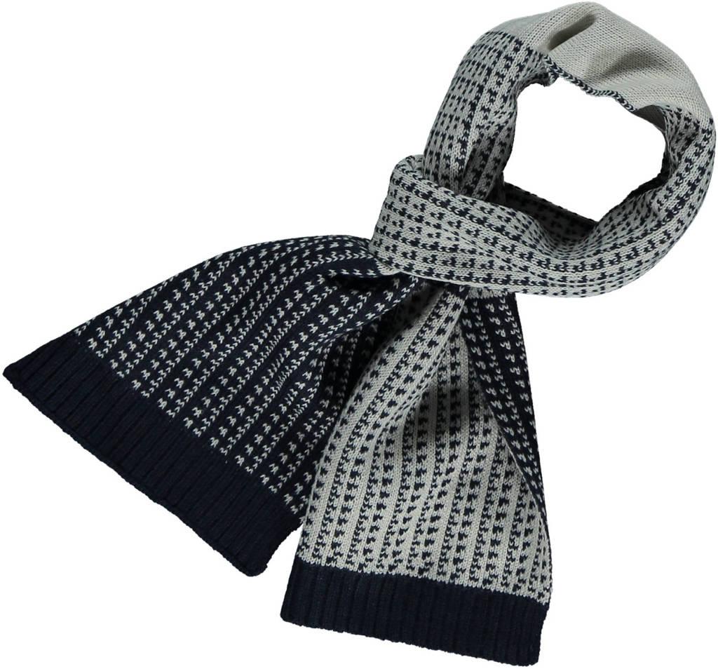 Sarlini sjaal ruit grijs/zwart, multi navy
