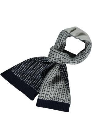 sjaal ruit grijs/zwart