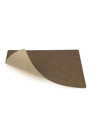 Placemat Leer Nupo Bruin Zand (35x45 cm)