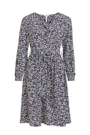 jurk OBJLANNIE met all over print blauw