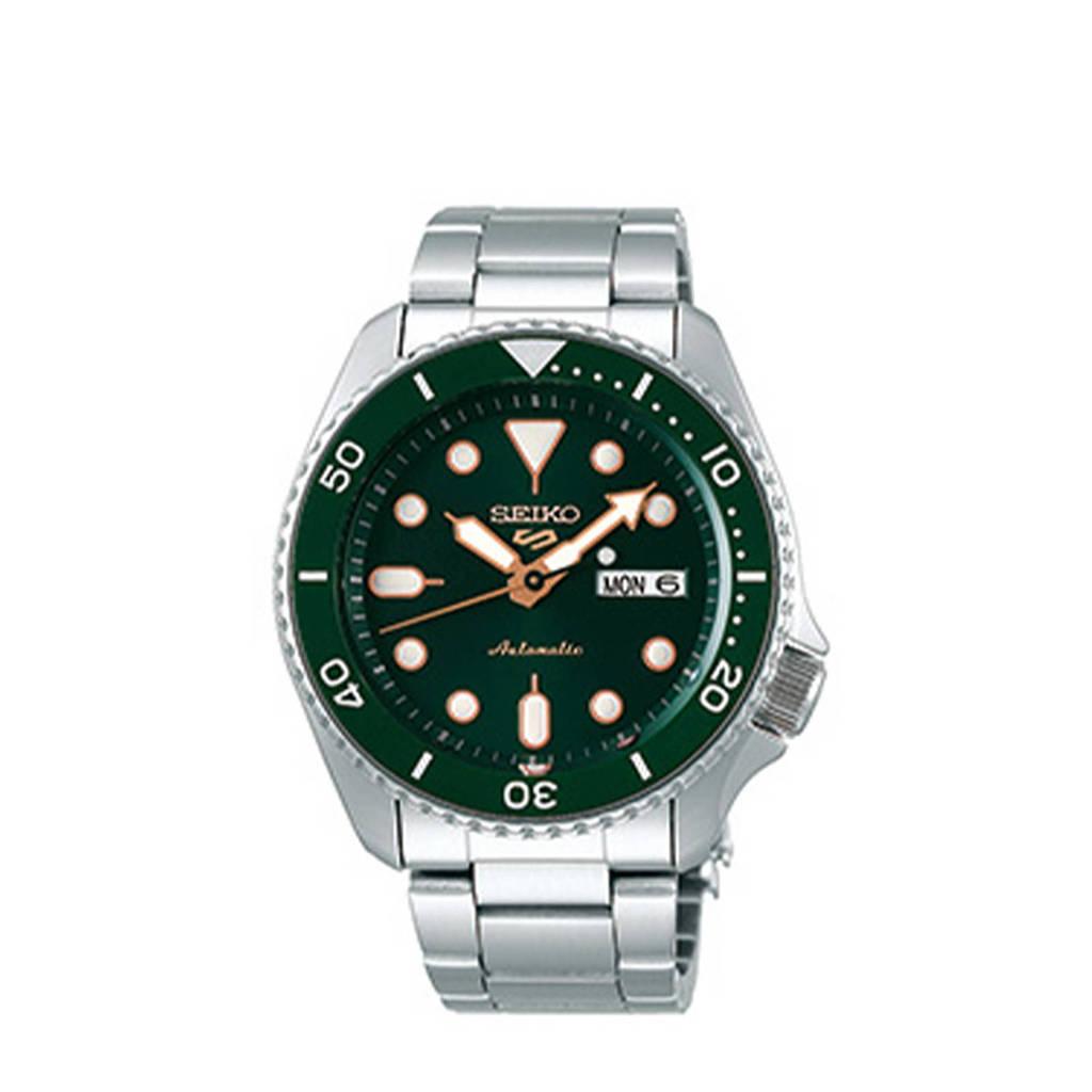 Seiko horloge SRPD63K1 zilverkleur, Zilver