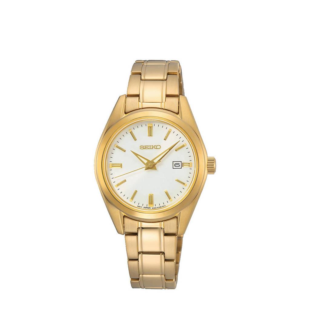 Seiko horloge SUR632P1 goudkleur, Goudkleur