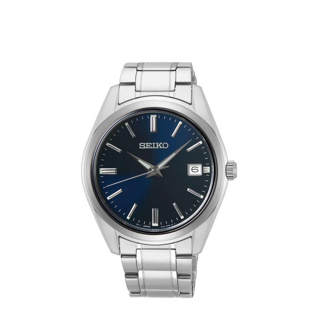 Seiko horloge SUR309P1 zilverkleur, Zilver/blauw