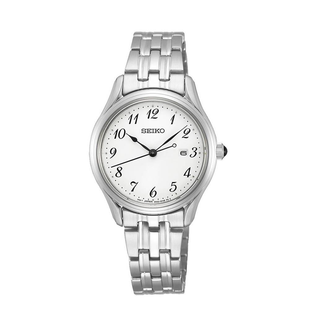 Seiko horloge SUR643P1 zilverkleur, Zilver