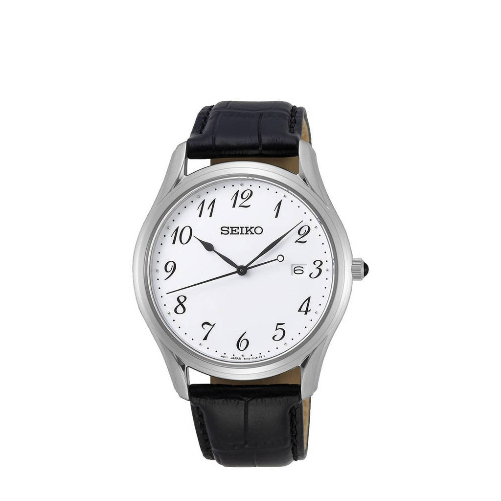 Seiko horloge SUR303P1 zilverkleur, Zilver/zwart