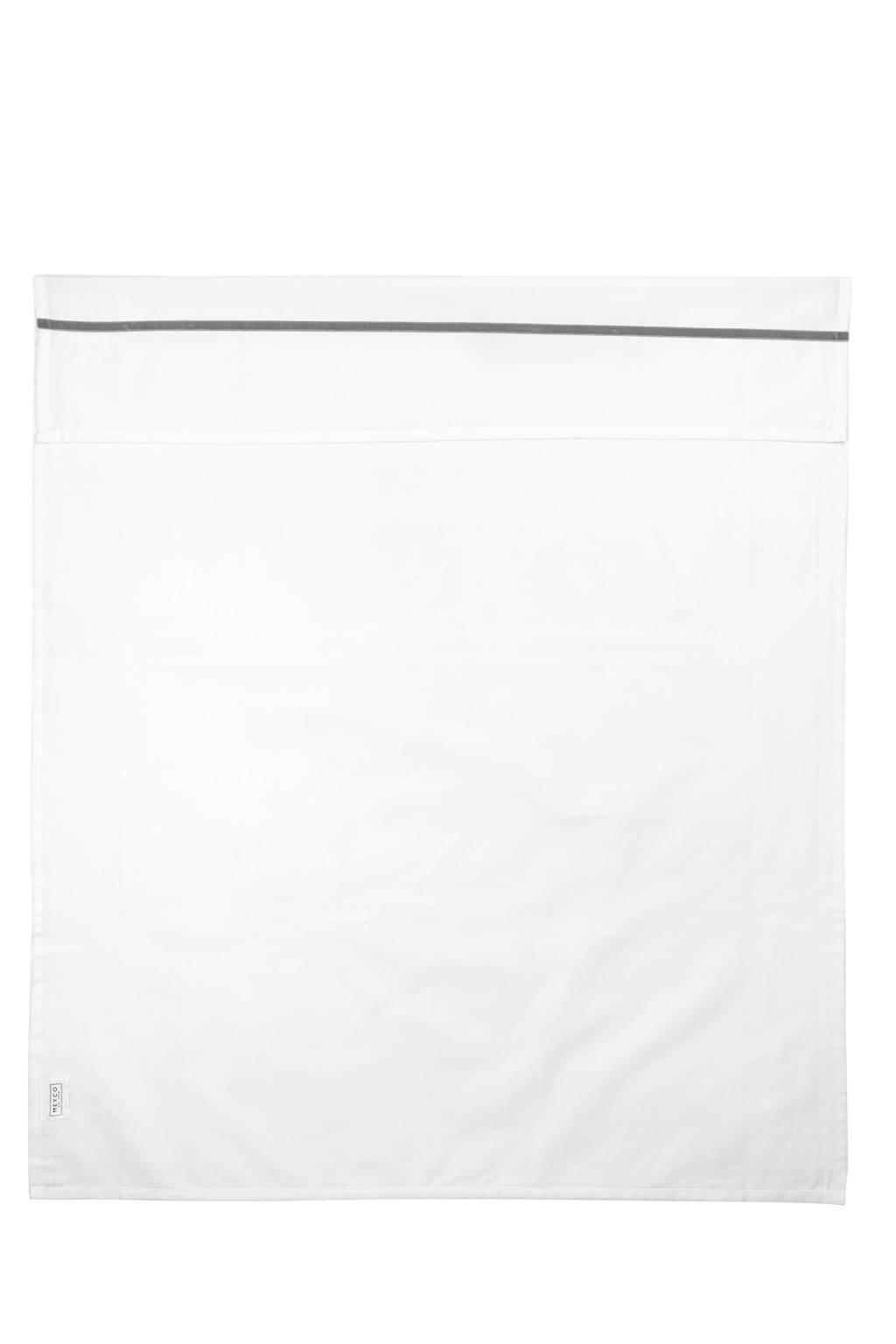 Meyco baby ledikantlaken Bies 100x150 cm grijs, Wit/grijs