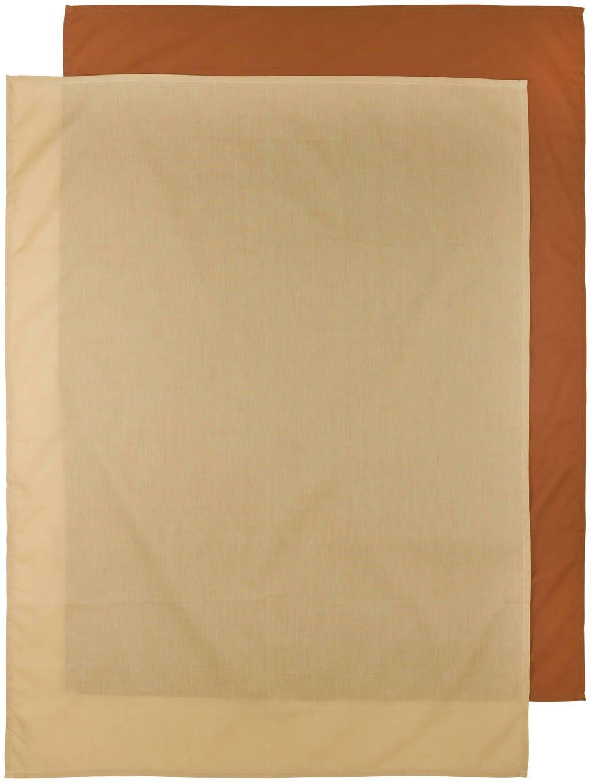 Meyco baby ledikantlaken - set van 2 100x150 cm Uni camel/Uni warm sand, Camel/Zand