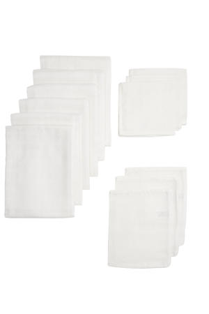 hydrofiel starterset basic uni - set van 2x3 en 1x6 wit