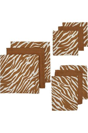 hydrofiel starterset zebra-uni - set van 3x3 camel