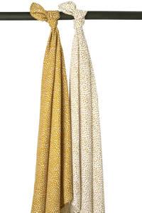 Meyco hydrofiele luiers - set van 2 Cheetah honey gold, Goud