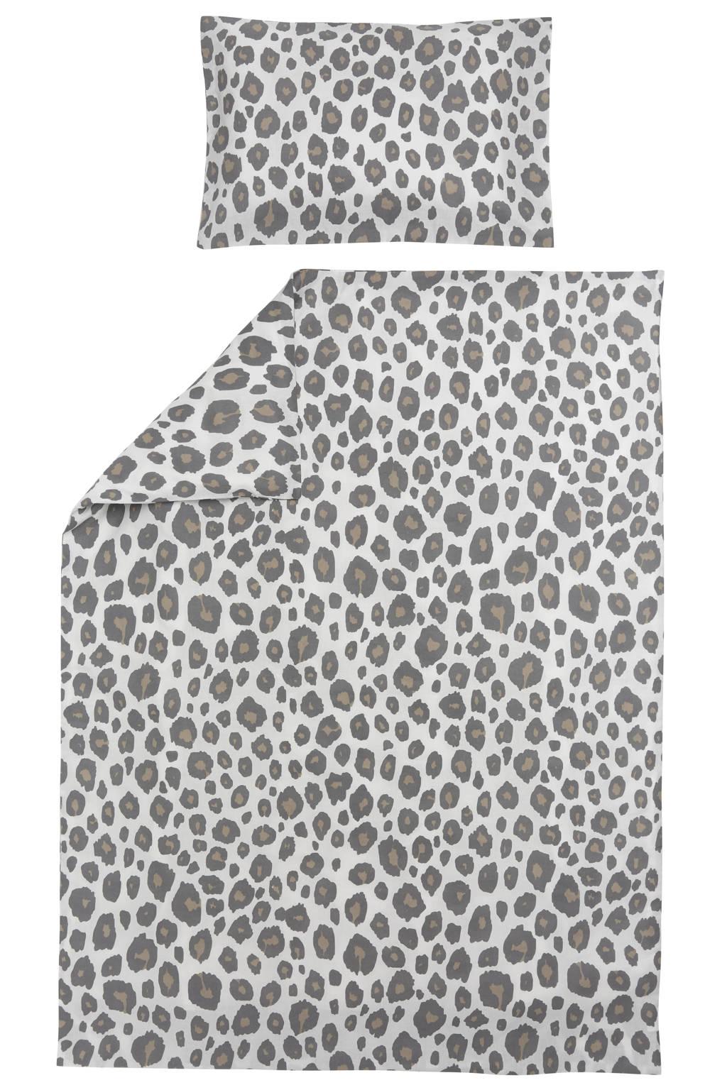 Meyco ledikant dekbedovertrek + kussensloop 100x135 cm Panter neutral, Panterprint