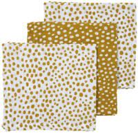 Meyco hydrofiel monddoekje - set van 3 Cheetah 30x30x cm honey gold, Goud