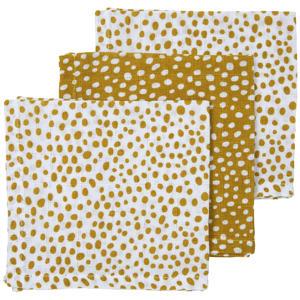 hydrofiel monddoekje - set van 3 Cheetah 30x30x cm honey gold