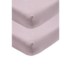 katoenen jersey hoeslaken ledikant - set van 2 60x120 lilac Lila