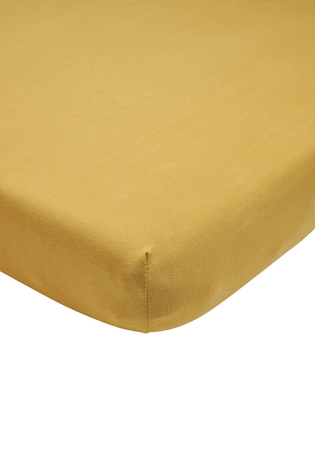 Meyco katoenen jersey hoeslaken peuter 70x140/150 cm honey gold Goud