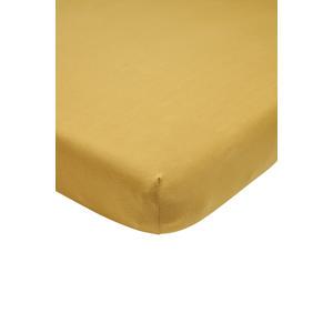 katoenen jersey hoeslaken peuter 70x140/150 cm honey gold Goud