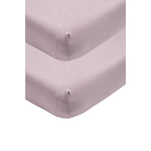 katoenen jersey hoeslaken peuter - set van 2 70x140/150 cm lilac Lila