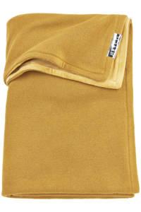Meyco wiegdeken velvet Knit basic 75x100 cm honey gold, Goud