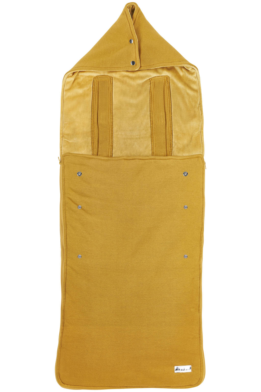 Meyco gebreide buggy voetenzak Knit basic honey gold, Goud