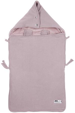 gebreide autostoel voetenzak Knit basic lilac