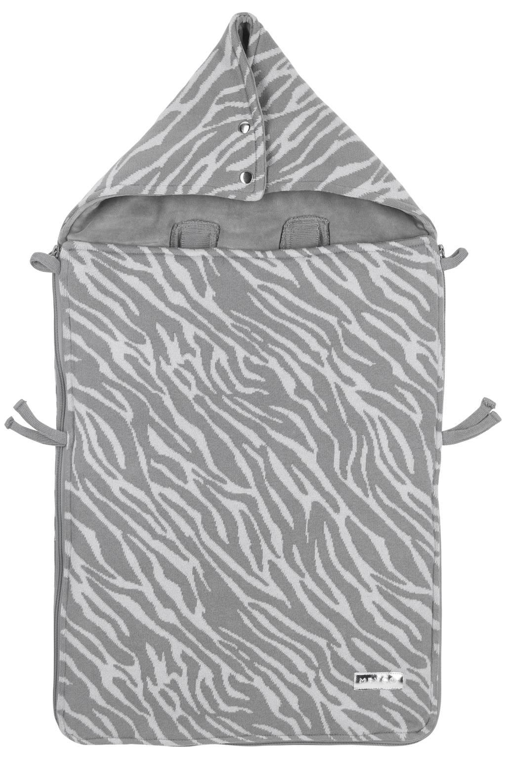 Meyco autostoel voetenzak Zebra grijs, Grijs