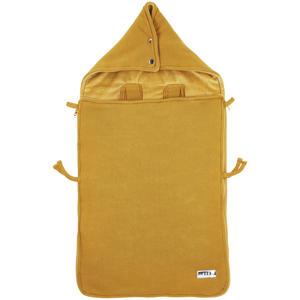 gebreide autostoel voetenzak Knit basic honey gold