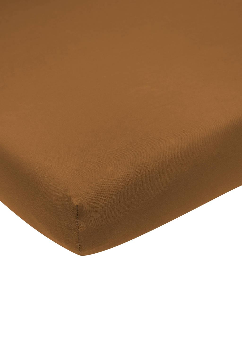 Meyco katoenen jersey hoeslaken wieg 50x90 cm camel Camel