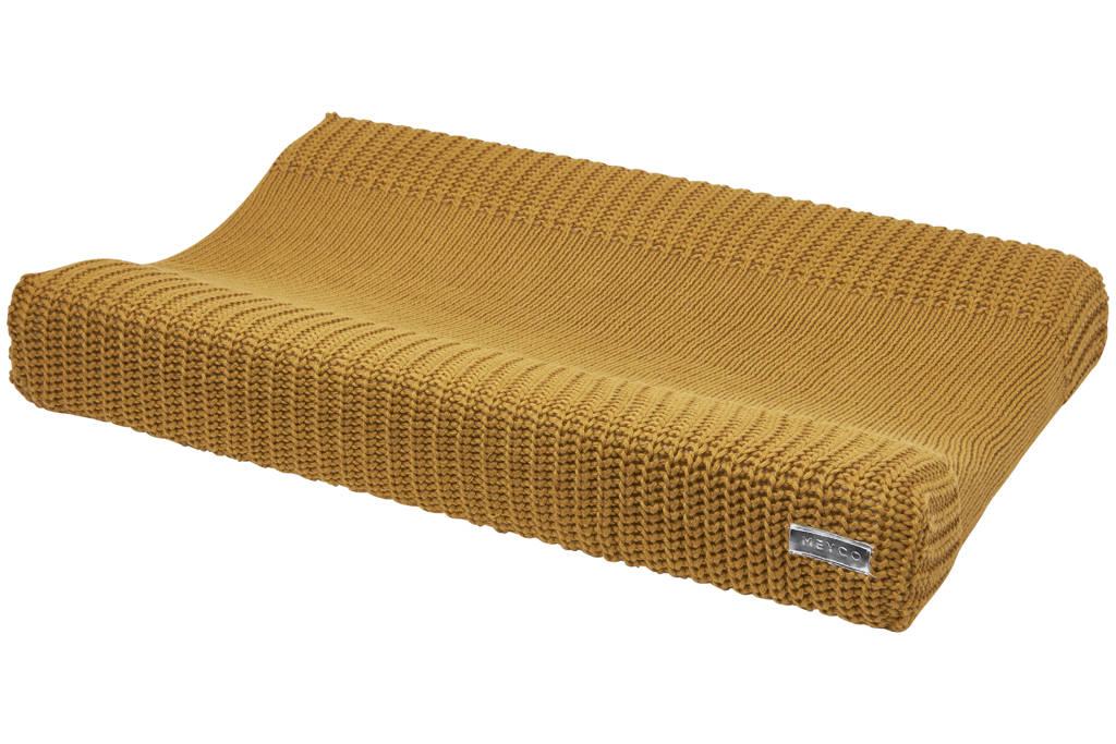 Meyco aankleedkussenhoes Herringbone honey gold, Goud