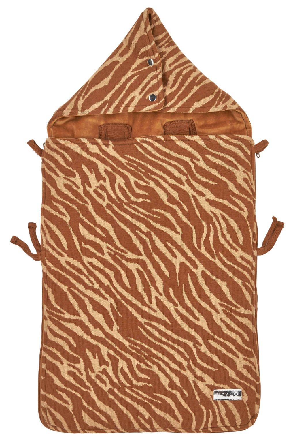 Meyco autostoel voetenzak Zebra camel, Camel