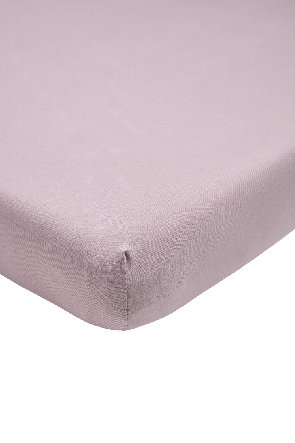 Meyco katoenen jersey hoeslaken ledikant 60x120 lilac Lila