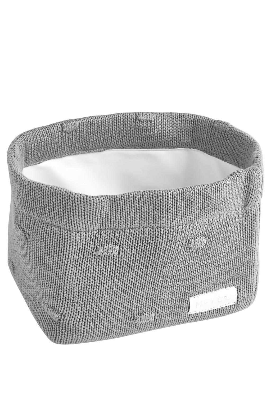Meyco commodemand small Knots 16x16x21 cm grijs, Grijs