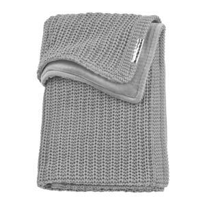 ledikantdeken velvet Herringbone 100x150 cm grey