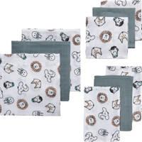 Meyco hydrofiele starterset Animal - set van 3x3 wit/grijs, Multi