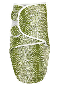 Meyco inbakerdoek 0-3 mnd Snake avocado, Groen