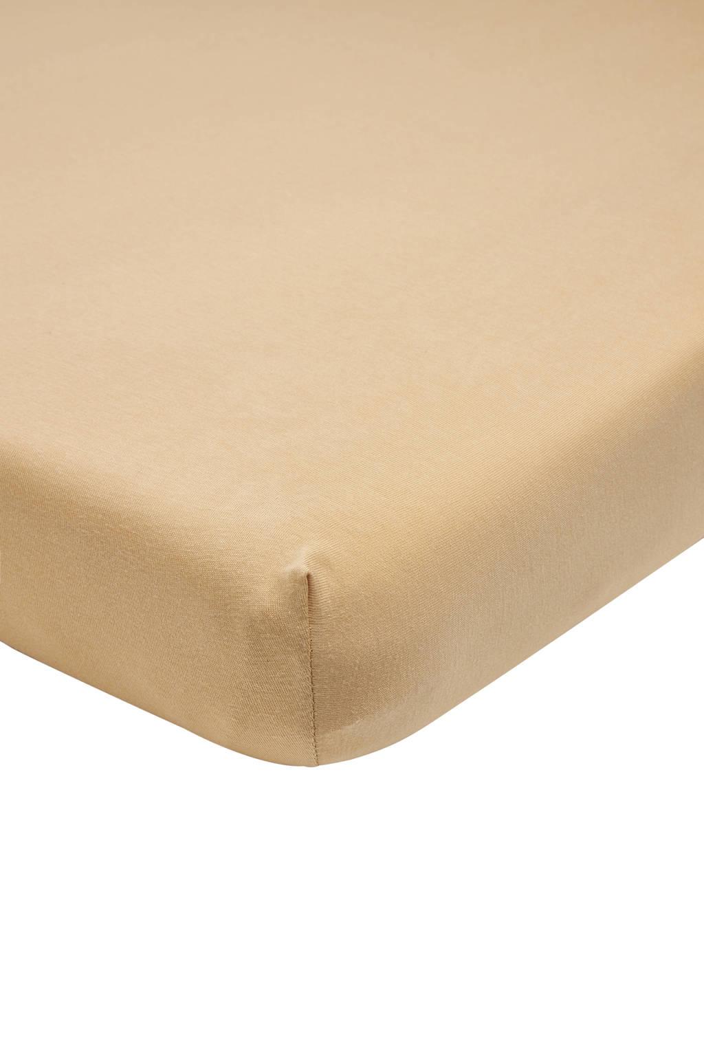 Meyco katoenen jersey hoeslaken wieg 40x80/90 cm warm sand Zand