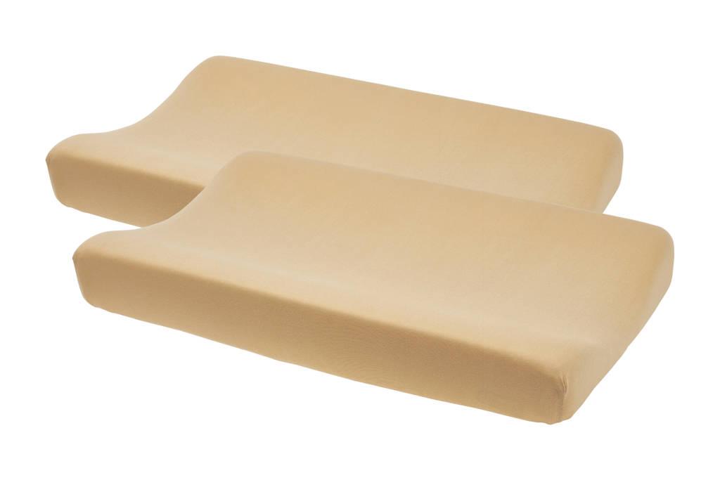 Meyco aankleedkussenhoes - set van 2 Basic jersey warm sand, Zand