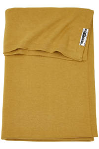 Meyco wiegdeken Knit basic 75x100 cm honey gold, Goud