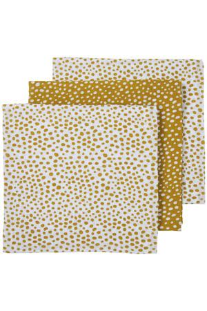 hydrofiele luier - set van 3 Cheetah 70x70 cm honey gold
