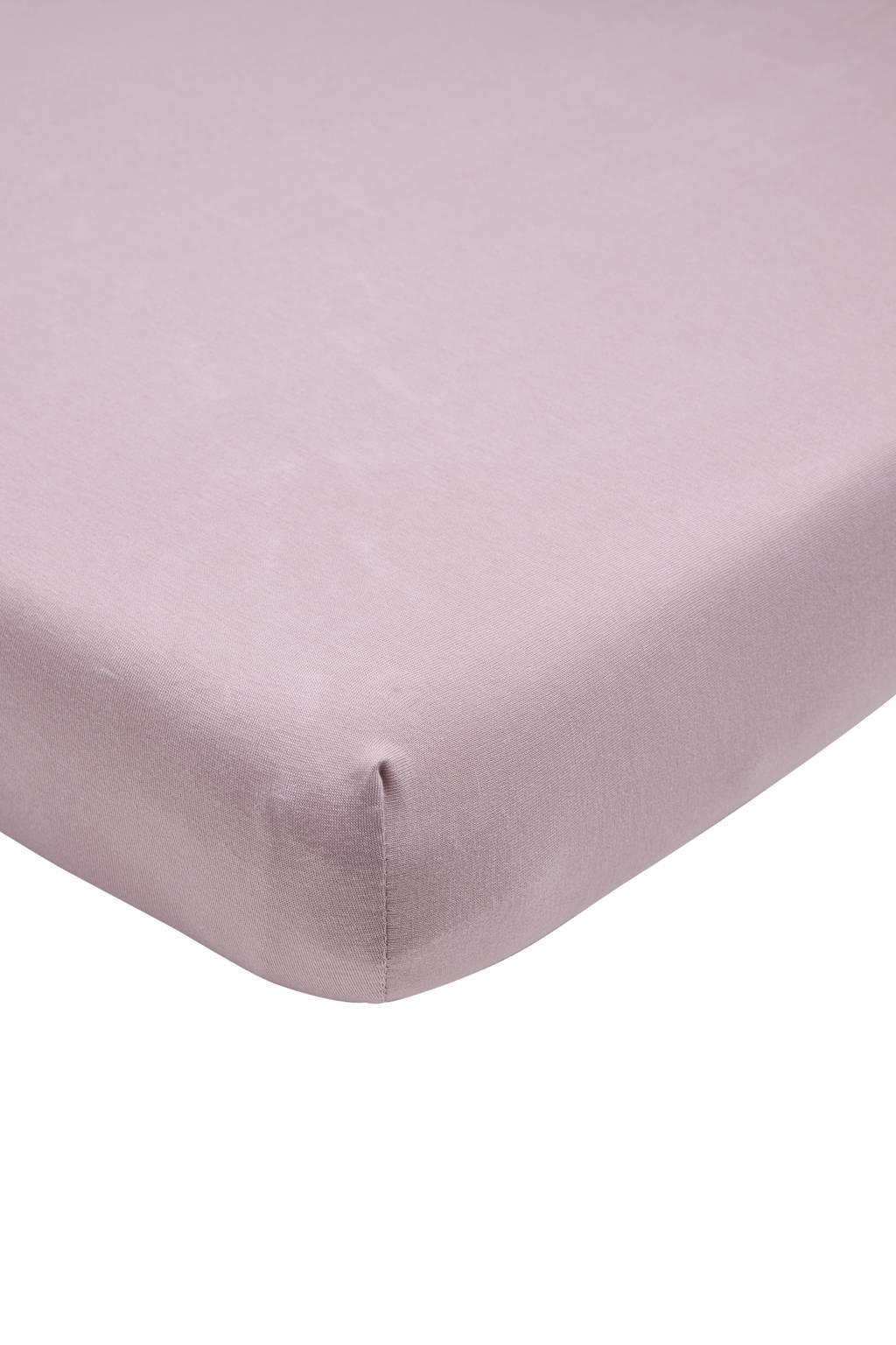 Meyco katoenen jersey hoeslaken peuter 70x140/150 cm lilac Lila