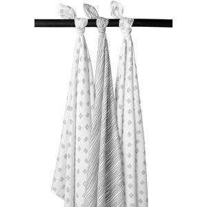 hydrofiele luiers - set van 3 Block stripe grijs