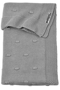 Meyco ledikantdeken Knots 100x150 cm grijs, Katoen