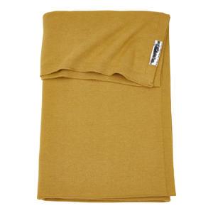 ledikantdeken Knit basic 100x150 cm honey gold