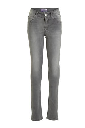 high waist super skinny jeans Chelsea grijs stonewashed