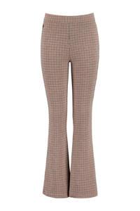 America Today Junior flared broek met all over print bruin/beige/zwart, Bruin/beige/zwart