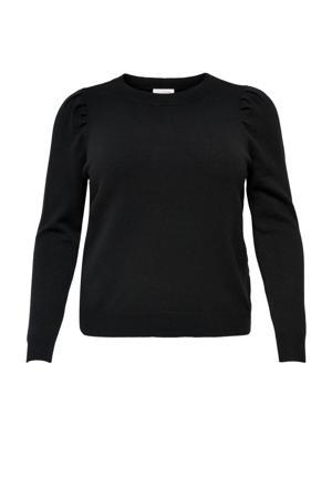 trui met plooien zwart