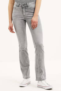 Il Dolce high waist flared jeans Sylvie Flare light grey, Light Grey