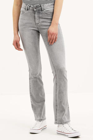 high waist flared jeans Sylvie Flare light grey